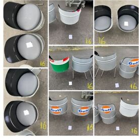 A SELECTION OF UPCYCLED OIL DRUM SEATS FOR SALE