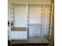 Ikea Elvarli Open Wardrobe with 3 Sections - RRP £445