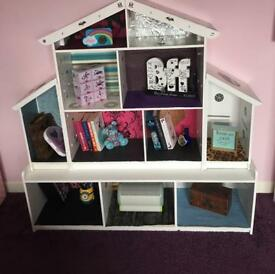 Storage unit / book case / Dolls house (with or without dolls/ furniture)