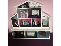 Dolls house / bookcase (with or without dolls/ furniture)