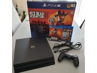 PS4 Pro 1tb 4K HDR Black Used in excellent condition