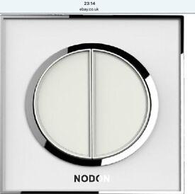 Nodon fashionable stylish 2 gang white light switch