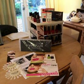VINYLUX WEEKLY POLISHES AND DISPLAY