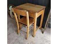 Vintage child's desk, Wooden desk, Old desk, School desk, Kid's desk, Playroom desk and chair