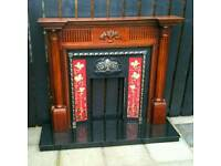Antique Style Victorian Fireplace