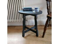 Vintage table, Small wooden table, Side Table, Painted table, Coffee table, Bedside table