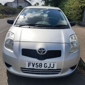 2008 TOYOTA YARIS T2, 998 cc Petrol, 12 Month MOT, Part Service History, 1 Owner from new