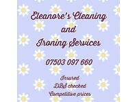 Domestic Cleaning Services, Oven Cleaning, and Ironing
