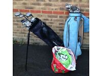 Two Bags of Golf Clubs, various brands & sizes