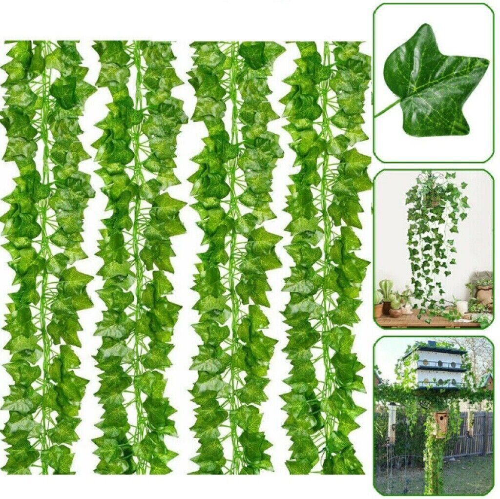 12pcs 2m Artificial Ivy Vine Fake Foliage Hanging Leaf Garland Plant Party Decor Ebay
