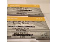 2 Rolling Stones Gold circle,Ricoh arena 2nd June