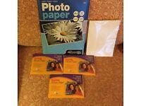 For Laser Inkjet, Photo paper 50 A4 Matt/4x6 gloss photo paper sheets and 8 x 7 gloss sheets