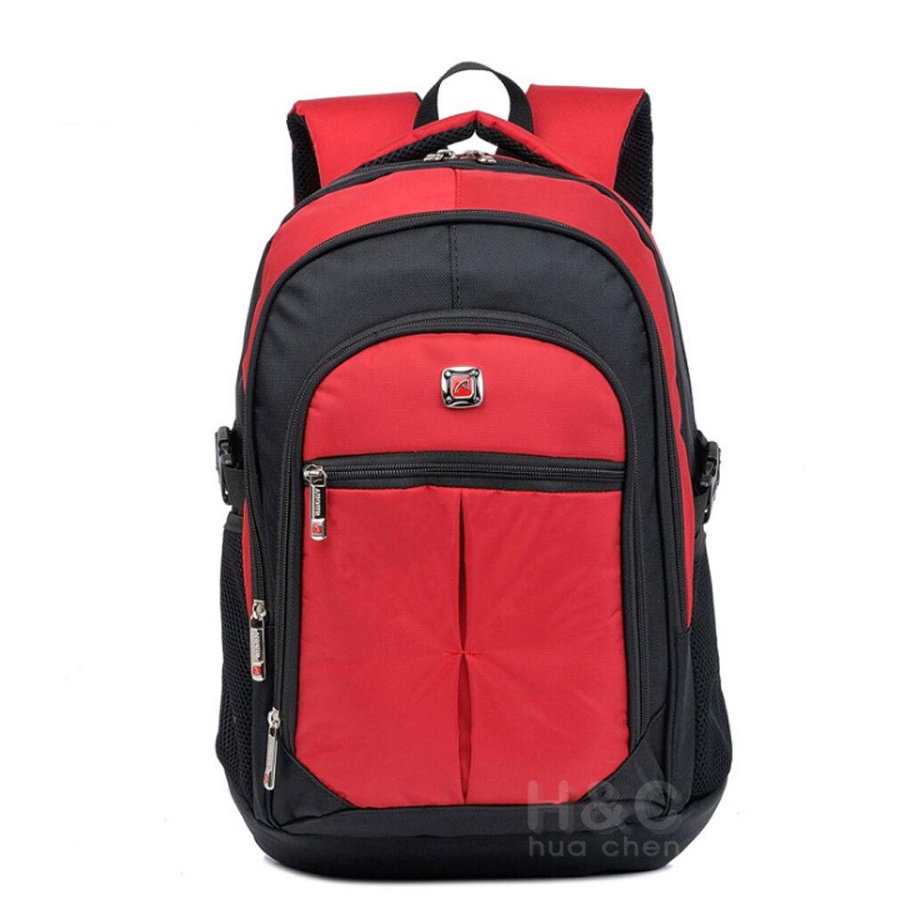 Men's Travel Rucksack Notebook Laptop Swiss Hiking Notebook Backpack School Bag
