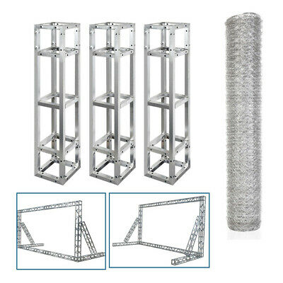 10FT/3M Strong Square Box Lighting Trussing Fits Global Truss F34 Wire Mesh