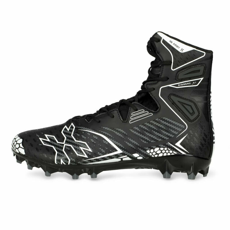 HK Army Digger X1 Hightop Cleats - Black / Grey - Size 10 - Paintball