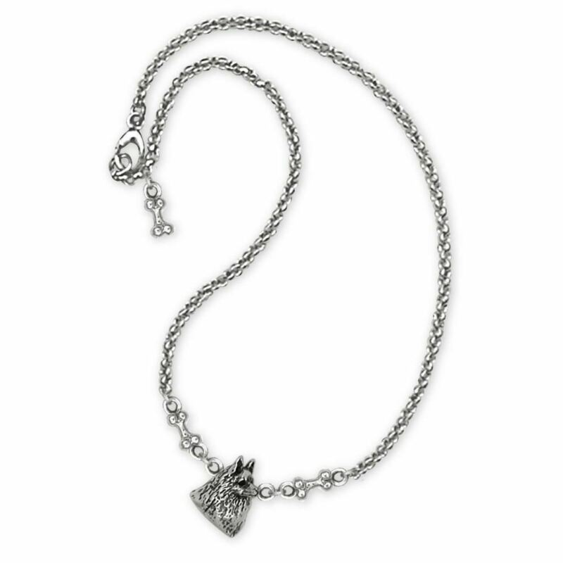 Schipperke Jewelry Sterling Silver Schipperke Bracelet Handmade Dog Jewelry SCH2