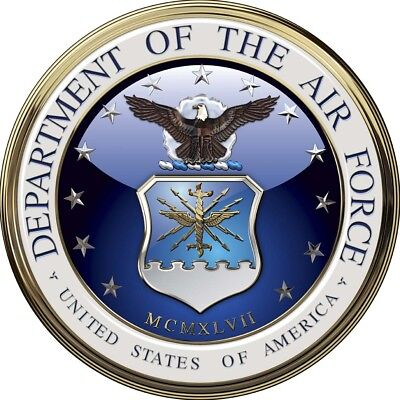 """Department of the Air Force Emblem All Metal Sign. 14"""" Round"""