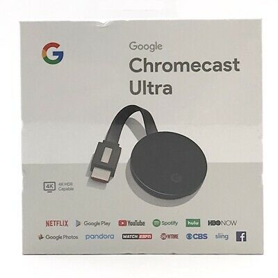Google Chromecast Ultra 4K Digital Media Streamer - Black (NEW SEALED )
