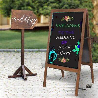 A Frame Led Writing Board Chalkboard Free Standing Weddings Outdoor Sidewalk