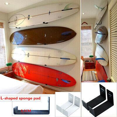 Wall Mount Storage Hook Rack for SUP&Surfboard Ski&Snow Board Long Skate Board