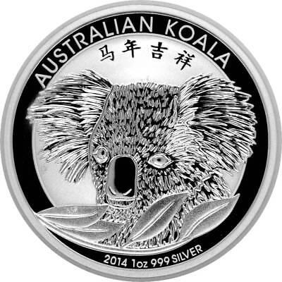 1 AU Dollar Silber Koala 2014 Chinese Privy Mark 1 Oz Silber ()