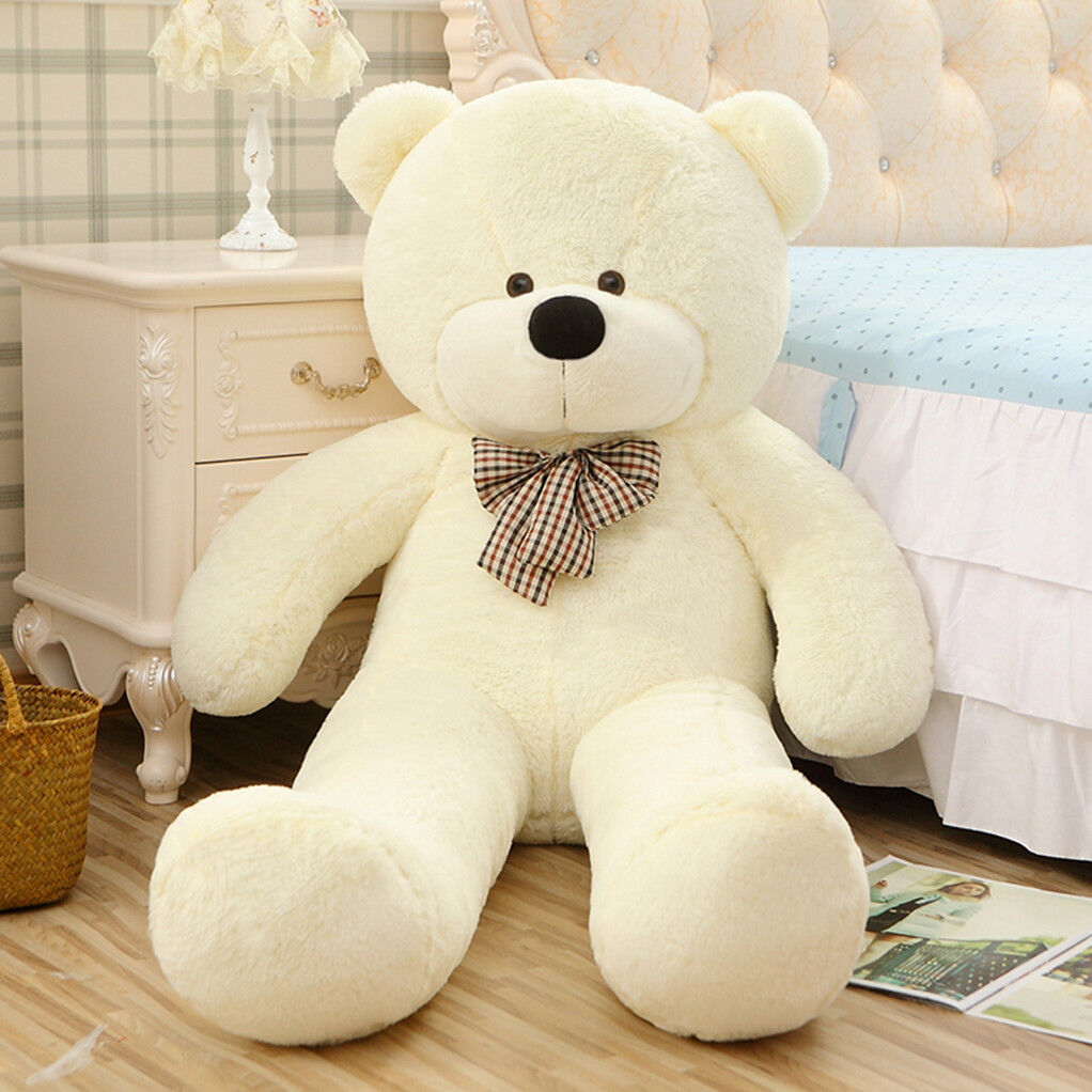 "47/"" GIANT White Teddy Bear Stuffed Animal Huge Soft Plush Cute Toy Birthday Gift"