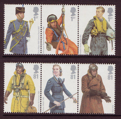 GREAT BRITAIN 2008 RAF UNIFORMS SET OF 6 UNMOUNTED MINT
