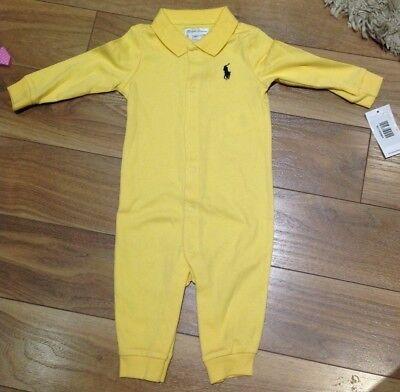 BNWT Ralph Lauren Polo Baby Boys Romper Coverall Babygrow 3M RRP £59