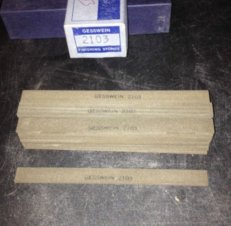 "Box of 30pcs.150grit, Gesswein, 405-2103, Die Maker Finishing Stones 1/8x1/2x6"""