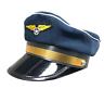 Deluxe High Quality Blue Airline Pilot Hat Cap Mens Captain Fancy Dress Accesory