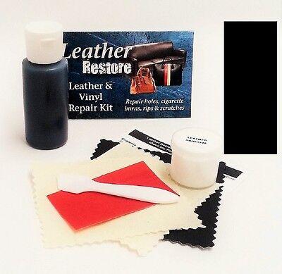Air Dry Leather & Vinyl Repair Kit BLACK Color Repair Restore Couch Car Jacket