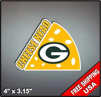 Cheesehead Green Bay Packers Fan Car Vehicle Vinyl Decal Sticker 4
