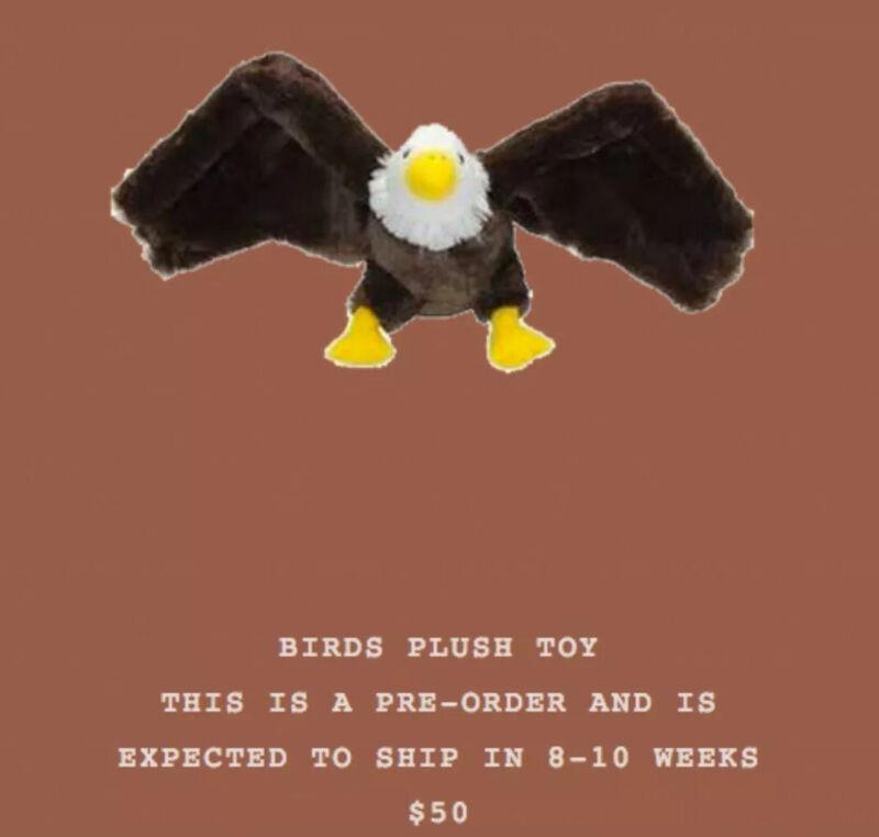 Travis Scott Birds In The Trap Sing McKnight Stuffed Animal Toy Bird NWT RARE