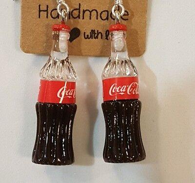 Sterling Silver Coca Cola Coke Earrings