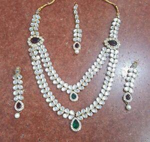 Indian desi fashion jewellery set necklace choker matha patti