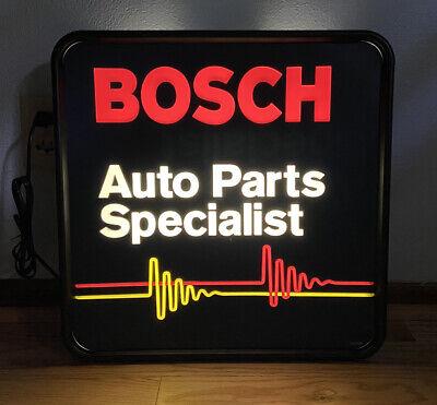 Bosch Auto Parts Specialist Lighted Sign 3D Light Up Vintage Automotive Gas Oil