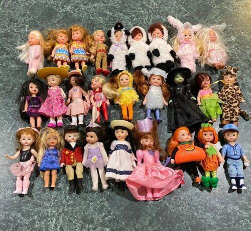 Vintage Lot Of (27) Mattel, Alexander & Other Mini Dolls + Clothes