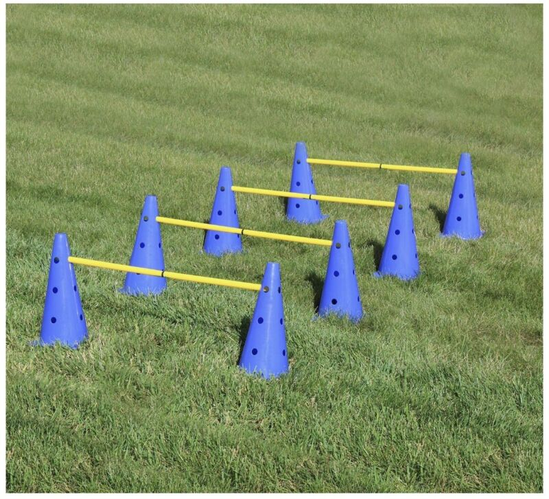 Hurdle Cone Set with Training Cones and Agility Poles – Agility Ladder