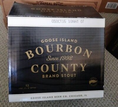 Goose Island Bourbon County Stout  2016 Empty Case