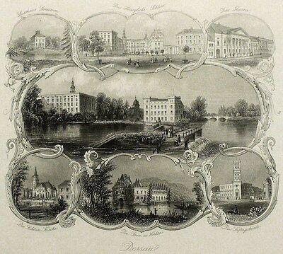 DESSAU - Souvenirblatt - Payne - Stahlstich 1856
