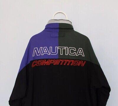 Vintage Nautica Competition Fleece Lined Reversible Jacket - Size XL