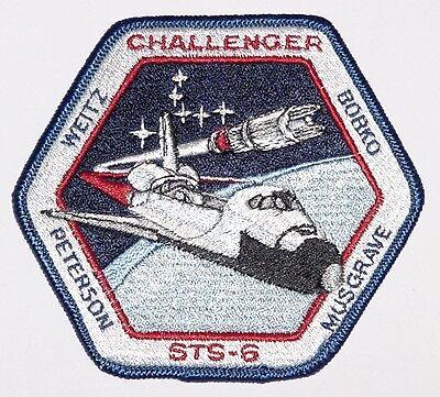 Aufnäher Patch Raumfahrt NASA STS-6 Space Shuttle Challenger ............A3075