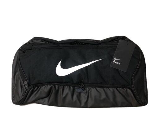 NIKE Brasilia BLACK Medium GYM DUFFLE BAG Training Sports Me