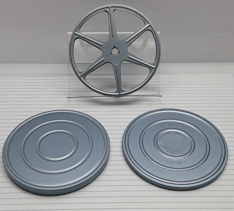 Vintage SCHERER Empty Metal 8mm Film Reel & Can 8/400