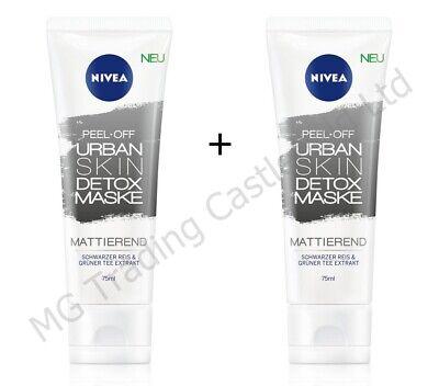 2 x Nivea Peel Off Urban Skin Detox Mask 75ml - New & Unused