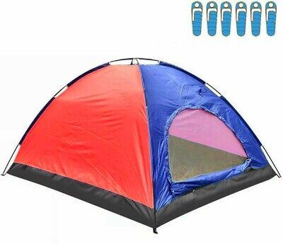 Tienda de Campaña para 6 Personas Impermeable Acampar Camping Carpa OFERTA