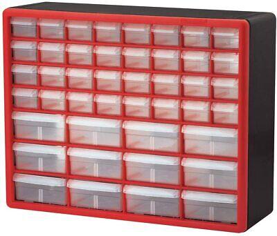 Storage Cabinet Organizer Akro-mils 44 Drawer 10144redblk Plastic Parts Hardware
