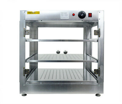 Commercial 24x24x24 Counter Top Food Pizza Pastry Warmer Wide Display Case P