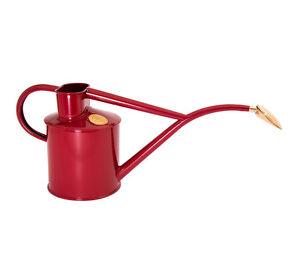 Haws Zimmergießkanne 1 L ❀ Burgunder Rot ❀ Gießkanne ❀ Blumenkanne