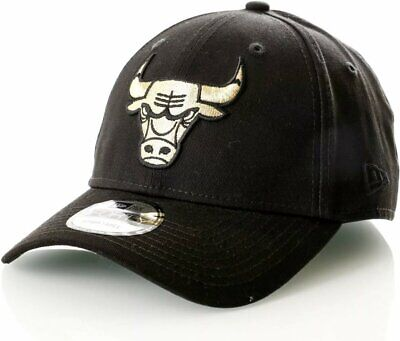 New era NBA  Chicago bulls black/gold adjustable 9forty cap one size buy £12